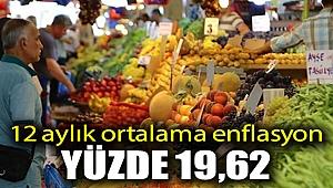 12 aylık ortalama enflasyon yüzde 19,62