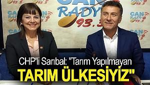 CHP'li Sarıbal: ''Tarım Yapılmayan Tarım Ülkesiyiz''