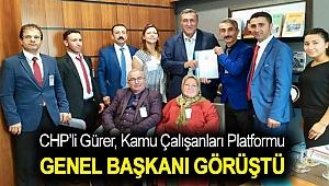 Gürer, Kamu Çalışanları Platformu Genel Başkanı Yusuf Şahin ve beraberindeki heyet ile görüştü