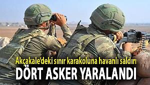 Akçakale'deki sınır karakoluna havanlı saldırı: Dört asker yaralandı