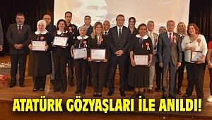 Atatürk gözyaşları ile anıldı!
