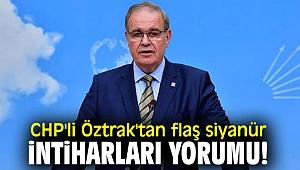CHP'li Öztrak'tan flaş siyanür intiharları yorumu!