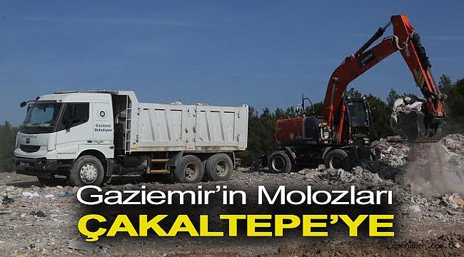 Gaziemir'in molozları Çakaltepe'ye
