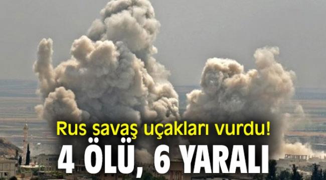 Rus uçakları, İdlib'i vurdu!