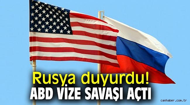 Rusya ve ABD arasında vize savaşı!