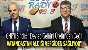 CHP'li Sındır: '' Devlet gelirini üretimden değil vatandaştan aldığı vergiden sağlıyor''