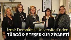 İzmir Demokrasi Üniversitesi'nden TÜRGÖK'e Teşekkür Ziyareti