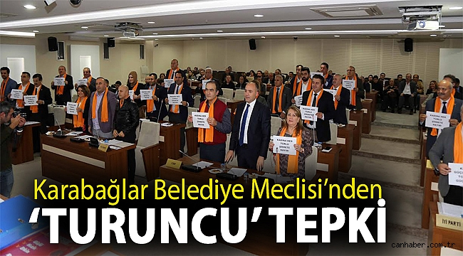 Karabağlar Belediye Meclisi'nden 'turuncu' tepki