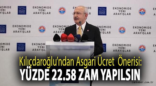 Kılıçdaroğlu'ndan asgari ücret önerisi: Yüzde 22.58 zam yapılsın