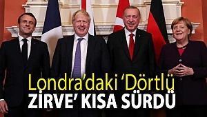 Londra'daki 'Dörtlü Zirve' kısa sürdü