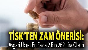 TİSK'ten zam önerisi: Asgari ücret en fazla 2 bin 262 lira olsun