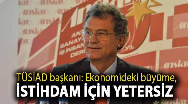 TÜSİAD başkanı: Ekonomideki büyüme, istihdam için yetersiz