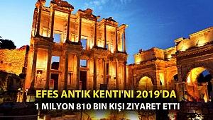 Efes Antik Kenti'ni 2019'da 1 milyon 810 bin kişi ziyaret etti