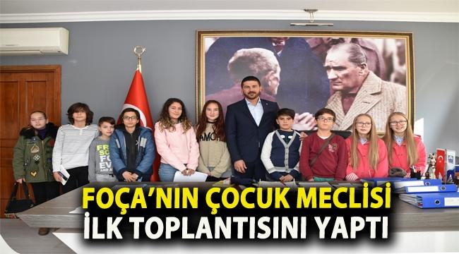 FOÇA'NIN ÇOCUK MECLİSİ İLK TOPLANTISINI YAPTI