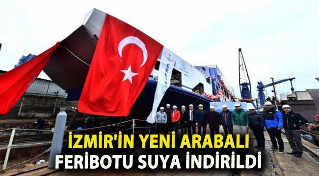 İstanbul Tuzla'da yapımı süren feribotlardan ilki törenle suya indirildi.