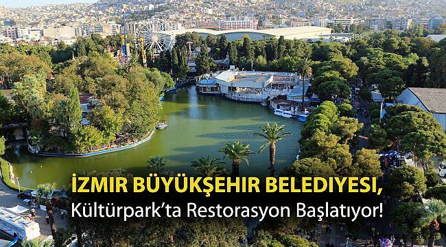 İzmir Büyükşehir Belediyesi, Kültürpark'ta Restorasyon Başlatıyor!