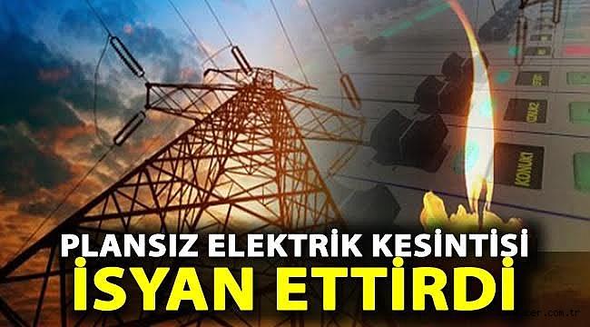 Plansız Elektrik Kesintisi İsyan Ettirdi