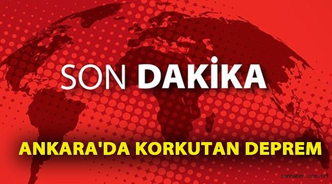 SON DAKİKA: Ankara'da 3.9 ve 3.3 büyüklüğünde iki deprem!