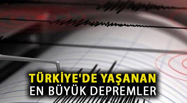 Türkiye'de Yaşanan En Büyük Depremler