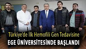 TüTürkiye'de ilk hemofili gen tedavisine Ege Üniversitesinde başlandırkiye'de ilk hemofili gen tedavisine Ege Üniversitesinde başlandı