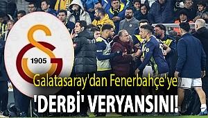Galatasaray'dan Fenerbahçe'ye 'derbi' veryansını!