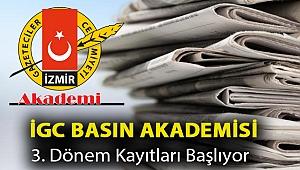 İGC BASIN AKADEMİSİ 3. DÖNEM KAYITLARI BAŞLIYOR