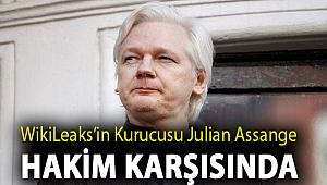WikiLeaks'in kurucusu Julian Assange hakim karşısında