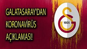 Galatasaray'dan koronavirüs açıklaması!