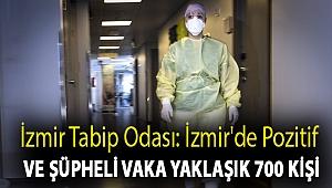 İzmir Tabip Odası: İzmir'de pozitif ve şüpheli vaka yaklaşık 700 kişi
