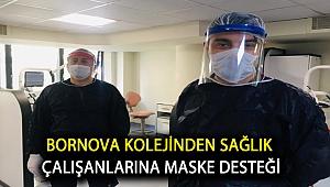 Bornova Kolejinden sağlık çalışanlarına maske desteği