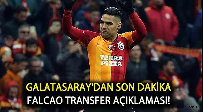 Galatasaray'dan son dakika Falcao transfer açıklaması!