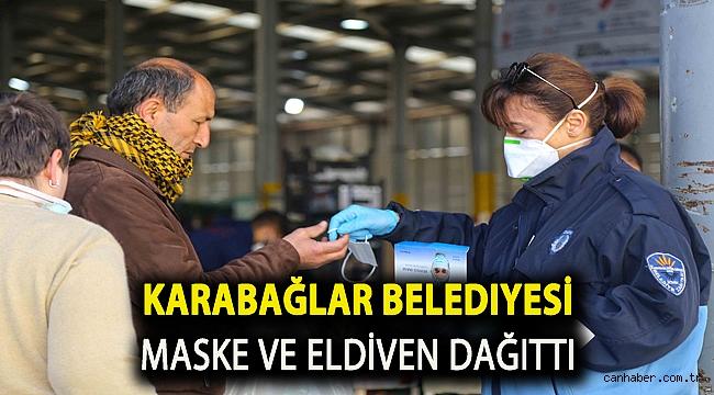 Karabağlar Belediyesi maske ve eldiven dağıttı