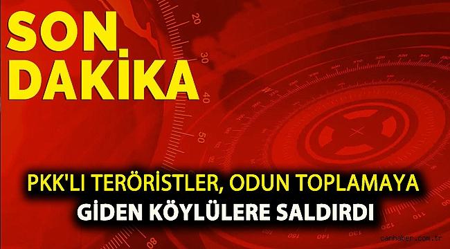 PKK'lı teröristler, odun toplamaya giden köylülere saldırdı