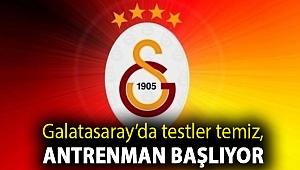 Galatasaray'da testler temiz, antrenman başlıyor