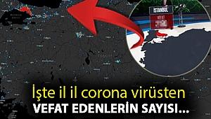 İşte il il corona virüsten vefat edenlerin sayısı...