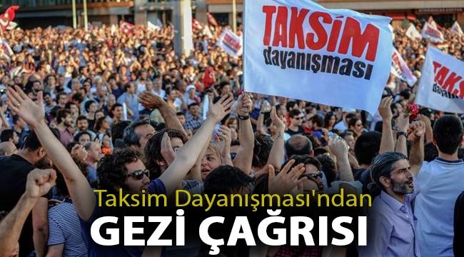 Taksim Dayanışması'ndan Gezi çağrısı