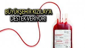 Büyükşehir Kızılay'a destek veriyor!