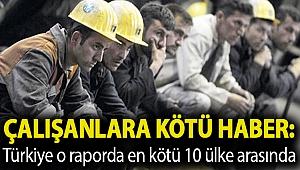 Çalışanlara kötü haber: Türkiye o raporda en kötü 10 ülke arasında