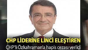CHP liderine linci eleştiren CHP'li Özkahraman'a hapis cezası verildi