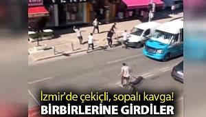 İzmir'de çekiçli, sopalı kavga! Birbirlerine girdiler