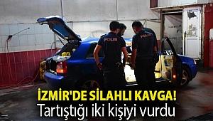 İzmir'de silahlı kavga! Tartıştığı iki kişiyi vurdu