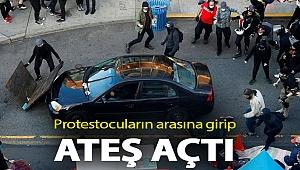 Protestocuların arasına girip ateş açtı