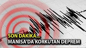 Son dakika.. Manisa'da korkutan deprem