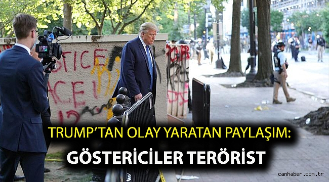Trump'tan olay yaratan paylaşım: Göstericiler terörist
