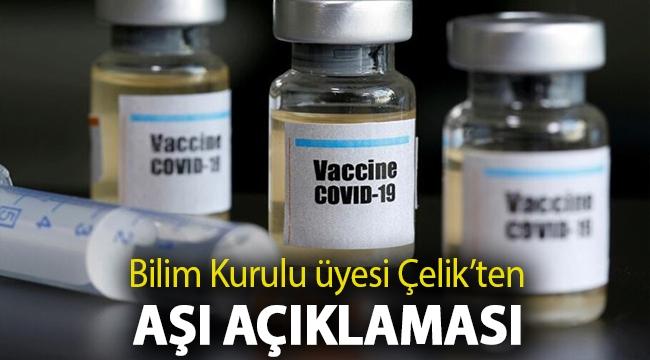 Bilim Kurulu üyesi Prof. Dr. İlhami Çelik'ten aşı açıklaması