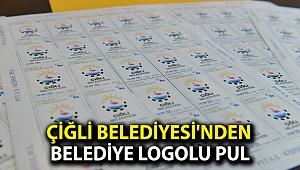 Çiğli Belediyesi'nden belediye logolu pul