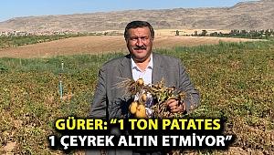 """Gürer: """"1 ton patates 1 çeyrek altın etmiyor"""""""