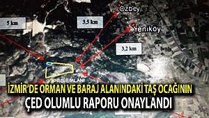 İzmir'de orman ve baraj alanındaki taş ocağının ÇED olumlu raporu onaylandı
