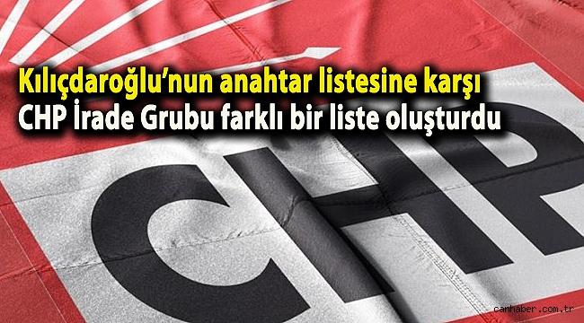 Kılıçdaroğlu'nun anahtar listesine karşı CHP İrade Grubu farklı bir liste oluşturdu