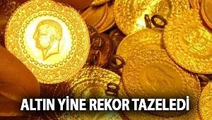 Altın yine rekor tazeledi